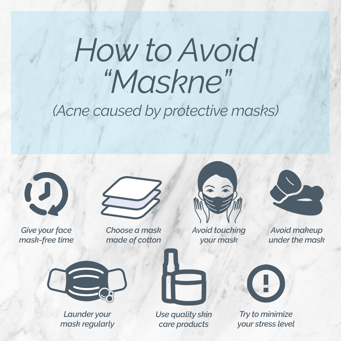 How to avoid maskne, acne caused by face masks