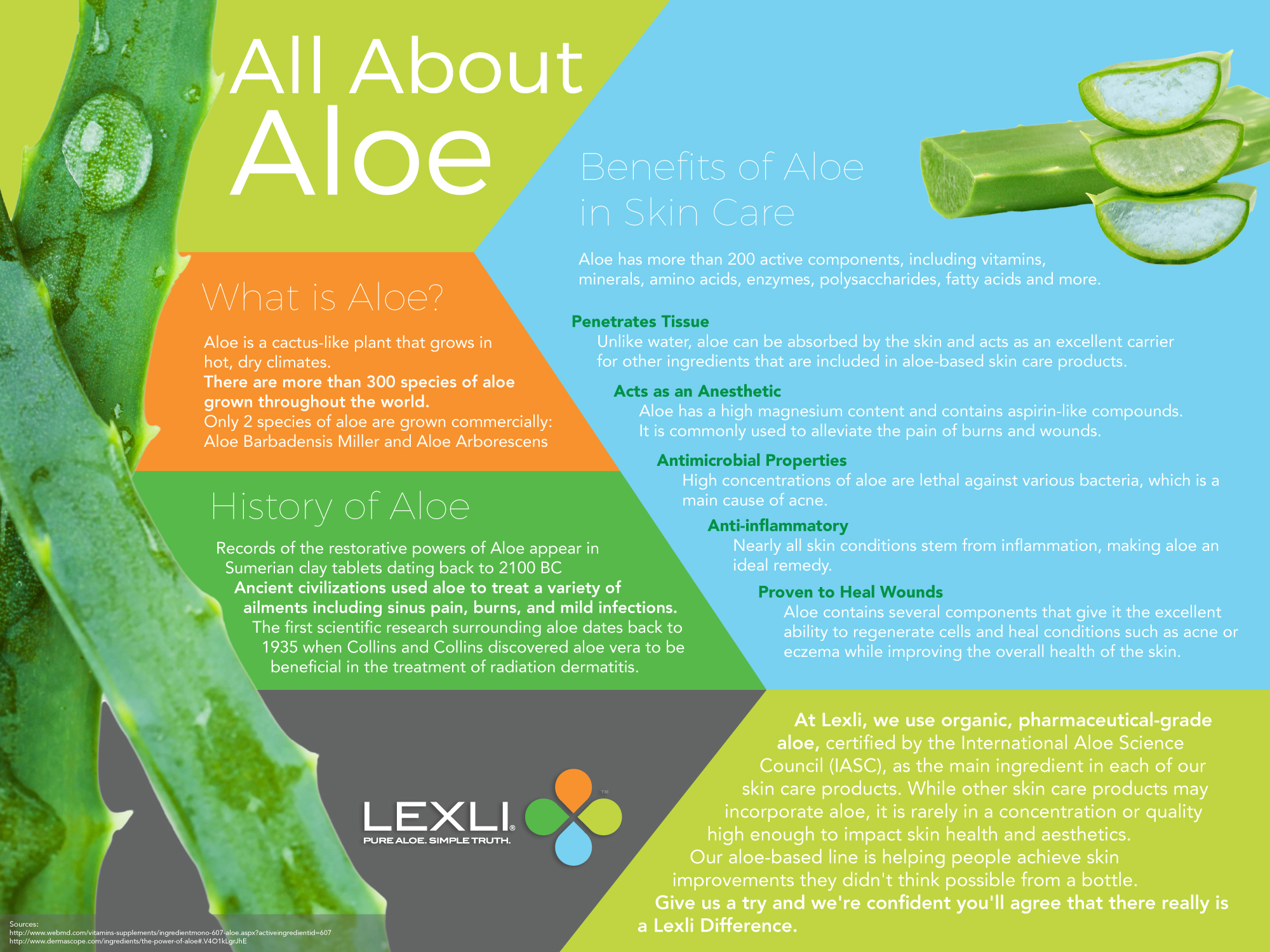 All about aloe from Lexli.com